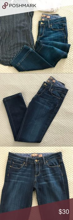 "Paige Skyline Skinny Jeans Blue denim skyline skinny jeans from Paige. In very good condition.   Size 26 15.75"" waist  29"" inseam  37"" total length 6.5"" leg opening PAIGE Jeans Skinny"