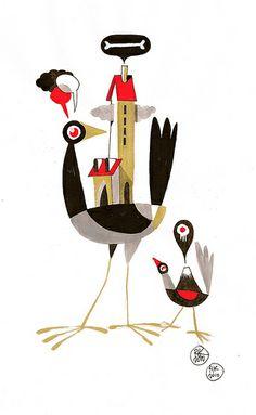 two crows by Riccardo Guasco