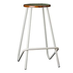 Enjoy simple yet comfortable seating at your bar or kitchen bench with the sturdy Elm Industrial Bar Stool, White from Beyond Bright. Furniture Dining Table, Dining Chairs, Industrial Bar Stools, Kitchen Benches, Online Furniture, Bright, Simple, Home Decor, Counter Height Stools