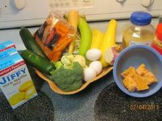 How To Make Birdie Bread Step by Step. Parrot Food Using Jiffy Mix Corn ...