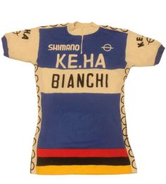 60 s vintage Shimano Bianchi cycling jersey made in Italy 4281ec1e6