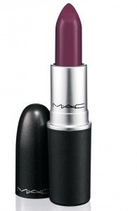 MAC - Rebel (Mid-tone cream plum lipstick with satin finish) - Want This!  PR Image pinned from Blushing Noir Beauty Blog.