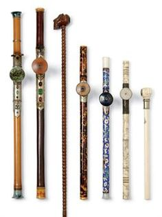 Assortment of 19th and 20th Century opium pipes from China up for auction at Christie's.