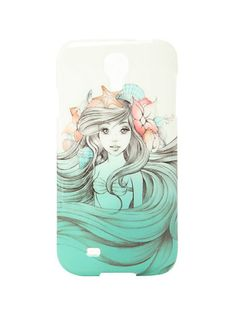 This is one of my favorite cases. Like Mulan, it's a Disney character but not too cookie cutter. The complimentary colors are very pale but I think it's cool how it almost looks like a sketch. The color scheme really flows your eyes from the top of the case to the bottom where her hair is freely flowing.
