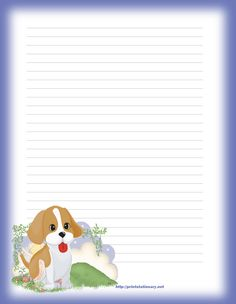 Create free custom pets letterhead and children's stationary,free printable stationary, free printable stationery Printable Lined Paper, Free Printable Stationery, Stationery Templates, Stationery Paper, Templates Printable Free, Personalized Stationery, Free Printables, Art Carte, Writing Paper