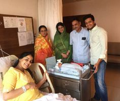 Riteish and Genelia with their new born baby!