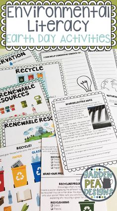 $8.00 Do you want to teach your students to think about their impact on the Earth this Earth Day? This huge packet of projects, activities, key science word posters, writing prompts and more will have your students thinking about conserving our resources and protecting our planet.