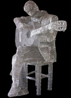Artist Creates Intricate Sculptures Using Paperclips - DesignTAXI.com Unusual Art, Unique Art, Bronze, Grand Art, 3d Studio, Wow Art, Paperclay, Recycled Art, Types Of Art
