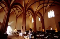Heiligeist Restaurant, Mainz, Germany. Converted ecclesiastic hospital. Very cool.