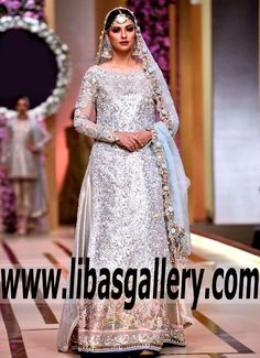 This wedding dress is pure sophistication! this long Wedding Dress with Lehenga is as trendy as they come. All the strength of beauty assembled in this  #DesignerAsifaNabeel Bridal dress #bCw #wedding #weddingfashion #exhibition #weddingexhibition #weddingdress #dress #show #fashionshow #bride #Shoppingstartnow #UK #USA #Canada #Australia #Saudi #Arabia #Bahrain #Kuwait #Norway #Sweden #NewZealand #Austria #Switzerland #Germany #Denmark #France #Ireland #Mauritius #Netherlands