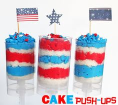 4th of july push up cake