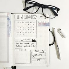 My February monthly log. I also have full page to-do list (on the left). And I plan to create a habit tracker but still not decided what…