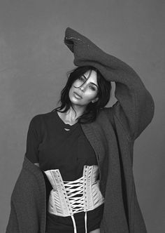 """""""Kim Gets Waisted"""" / Kim Kardashian West photographed by Lachlan Bailey and styled by Christine Centenera / Vogue Australia June 2016"""