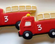 Fire Truck Cookies 3 dozen