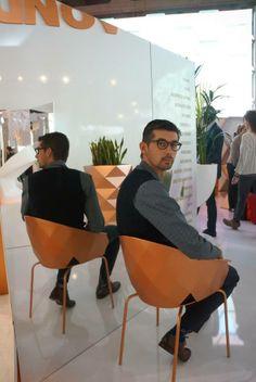 iSaloni Internazionale del Mobile.  Designer JM Ferrero chair Vases