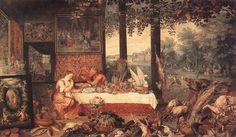 """""""The Sense of Taste""""  Jan Bruegel the Elder"""