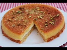 Basbousa Recipe Semolina Cake with Cream