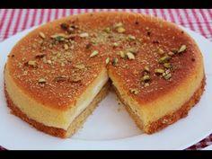 Basbousa Recipe Semolina Cake with Cream - YouTube