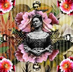 aisforari: Frida Kahlo collage using found images