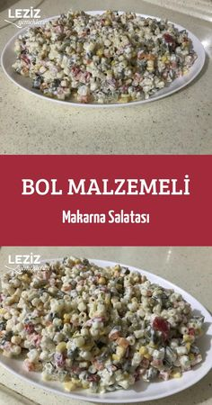 Bol Malzemeli Makarna Salatası – Leziz Yemeklerim Pasta Salad with plenty of ingredients Diet And Nutrition, Health Diet, Salad Recipes, Dessert Recipes, Salad Bar, Turkish Recipes, Vegetable Recipes, Pasta Salad, Food And Drink