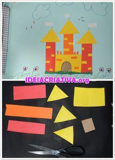 Construção de Castelo com Formas Geométricas | Ideia Criativa - Gi Barbosa Educação Infantil