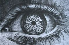 A-Maze-ing Eye! The labyrinth in your eyes. The Maze Runner, Maze Runner Series, Maze Runner Quotes, Maze Drawing, Gravure Metal, Arte Emo, Labyrinth Maze, Ange Demon, Eye Art