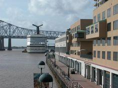 River Walk..NOLA.  Cruise ship waiting to sail.