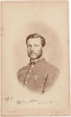Photography:CDVs, Carte de Visite of Private T. C. Allen, 5th Company,Louisiana Washington Artillery.... Image #1