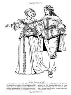 French Baroque and Rococo Fashions (Dover Fashion Coloring Book): Tom Tierney: 9780486423838: Amazon.com: Books