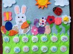 Handmade Easter Bunny Countdown Calendar by felterrific on Etsy