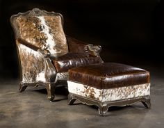 Hair Hide Chair, Western Style Furnishings  Dimensions IN: H42 W34 D40 IW22 AH27 SH20 SD23    Bernadette Livingston Furniture has made it easy for anyone to decorate their home with professionally designed unique furniture of the highest quality. All at a great value.    1. All of our leather & upholstered furniture is made by family owned & operated businesses in the USA!