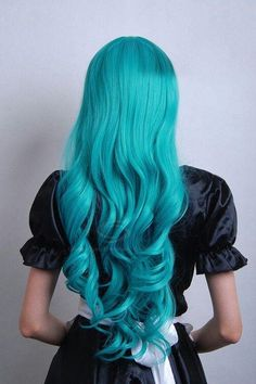 #blue #hairextensions #hair #unusual #original #striking #hairstyles #haircolors #pastels #hairdo #extensions #curls #turquoise