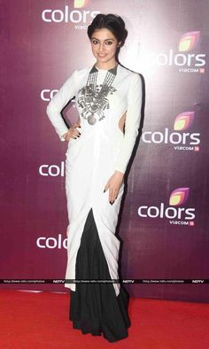 Divya Khosla Kumar looked stunning in a Nikhil Thampi creation