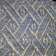 An Elegant Beaded Lace Stole by Anniken Allis | malabrigo Silkpaca in Azules
