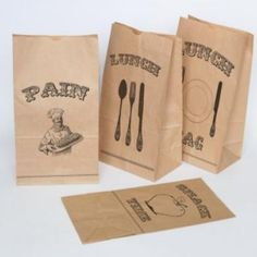 These are FREE printables for lunch bags.. how CUTE!!