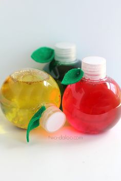 Easy Apple Sensory Bottles - Twodaloo