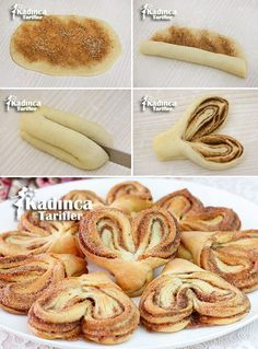 Donut Recipes, Baking Recipes, Cookie Recipes, Dessert Recipes, Drink Recipes, Delicious Desserts, Yummy Food, Pastry Design, Bread Shaping