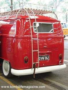 Beautiful red vintage campervan..Re-pin brought to you by agents of #Carinsurance at #HouseofInsurance in Eugene, Oregon