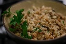 Let's Make Barley Risotto with Zucchini and Walnuts!