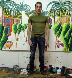אסף הניגסברג assaf henigsberg סטודיו רפי פרץ ציורים נאיביים תל אביב צייר נאיבי - TheMarker Cafe