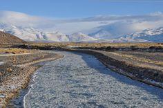 Río Atuel, congelado, Mendoza. www.turismoruta40.com.ar/el-sosneado.html