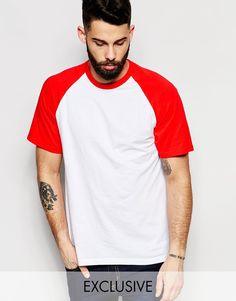 Imagen 1 de Camiseta con mangas raglán de Reclaimed Vintage