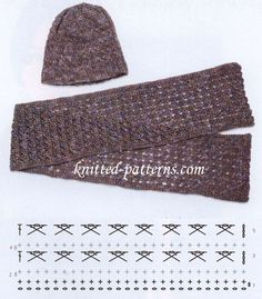 Hat and Scarf Crochet Set