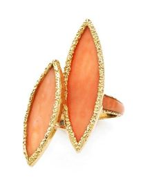 A CORAL AND YELLOW GOLD RING, BY CHAUMET