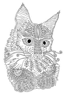 Adult Coloring Pages Colouring Mandala Books Cat Colors Crafts Printable Free Printables Doodle Art