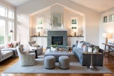 Gray hues with Arteriors Home, J Redmond, Baker Furniture, Andonian, Vanguard, Z Gallerie, Jonathan Adler, Visual Comfort products.