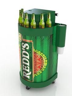 Redds POP Drinks Trolley, Nescafe, Bus Stop, Pos, Shelter, Display, Marketing, Ideas, Design