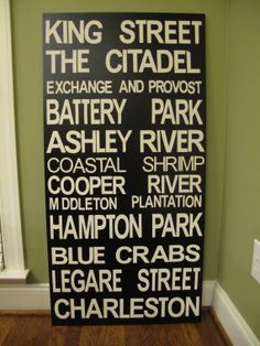 Replace The Citadel with College of Charleston! So happy I found some Charleston things on pinterest!