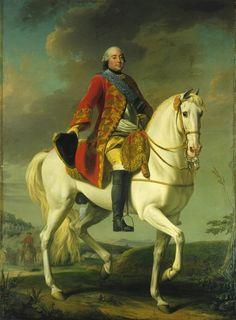 Portrait de Louis-Philippe, duc d'Orléans, saluant son Armée pendant une bataille, 1757 Alexander Roslin