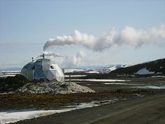 Release valves for geothermal energy in Iceland. | Photo: Brian Suda